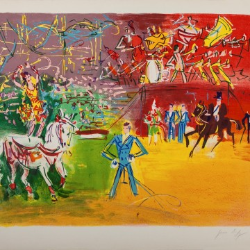 Jean Dufy,Cirque, 1940, lithograph, (56x76cm), marked E.A, editon 220