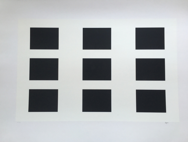 9 black rectangles