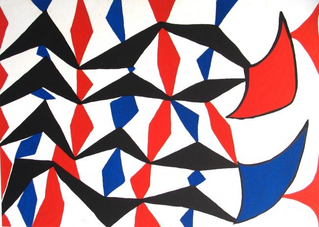 Alexander Calder - Blue black & red patterns